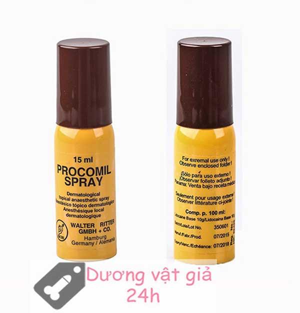 Chai xịt Procomil Spray kéo dài thời gian quan hệ 3