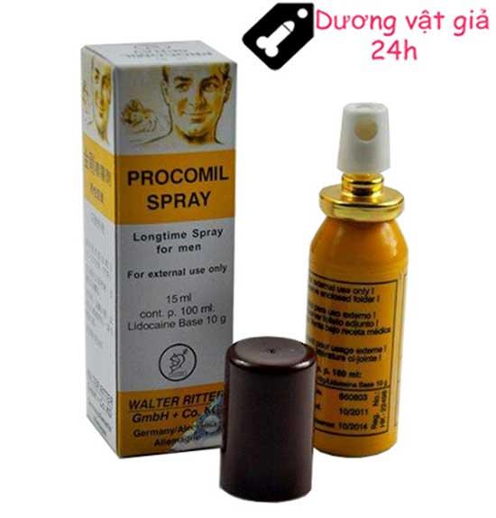 Chai xịt Procomil Spray kéo dài thời gian quan hệ 4