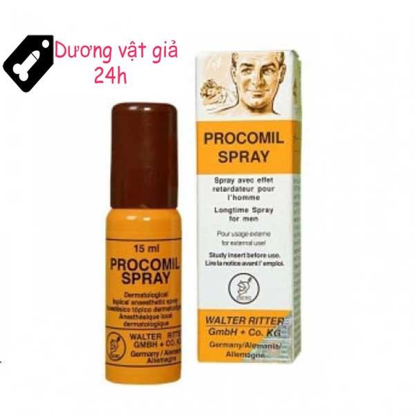 Chai xịt Procomil Spray kéo dài thời gian quan hệ