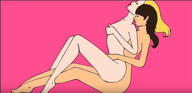Những tư thế quan hệ tình dục của les 4